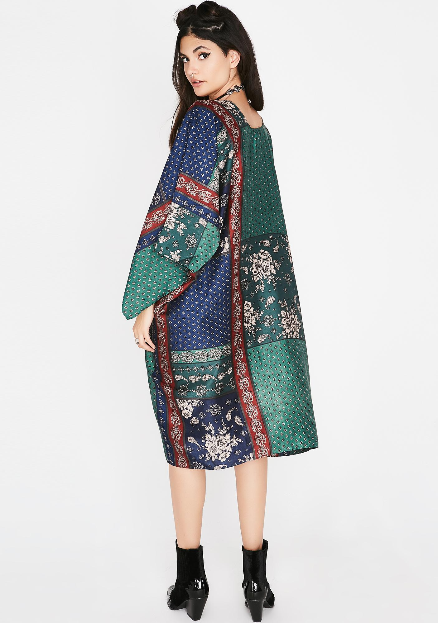 Goin' Solo Satin Kimono