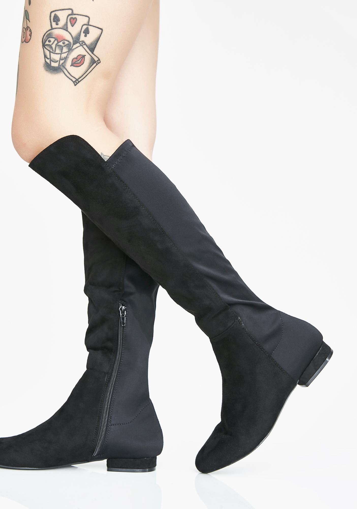 9bc9b26298a ... Step To The Side Knee High Boots