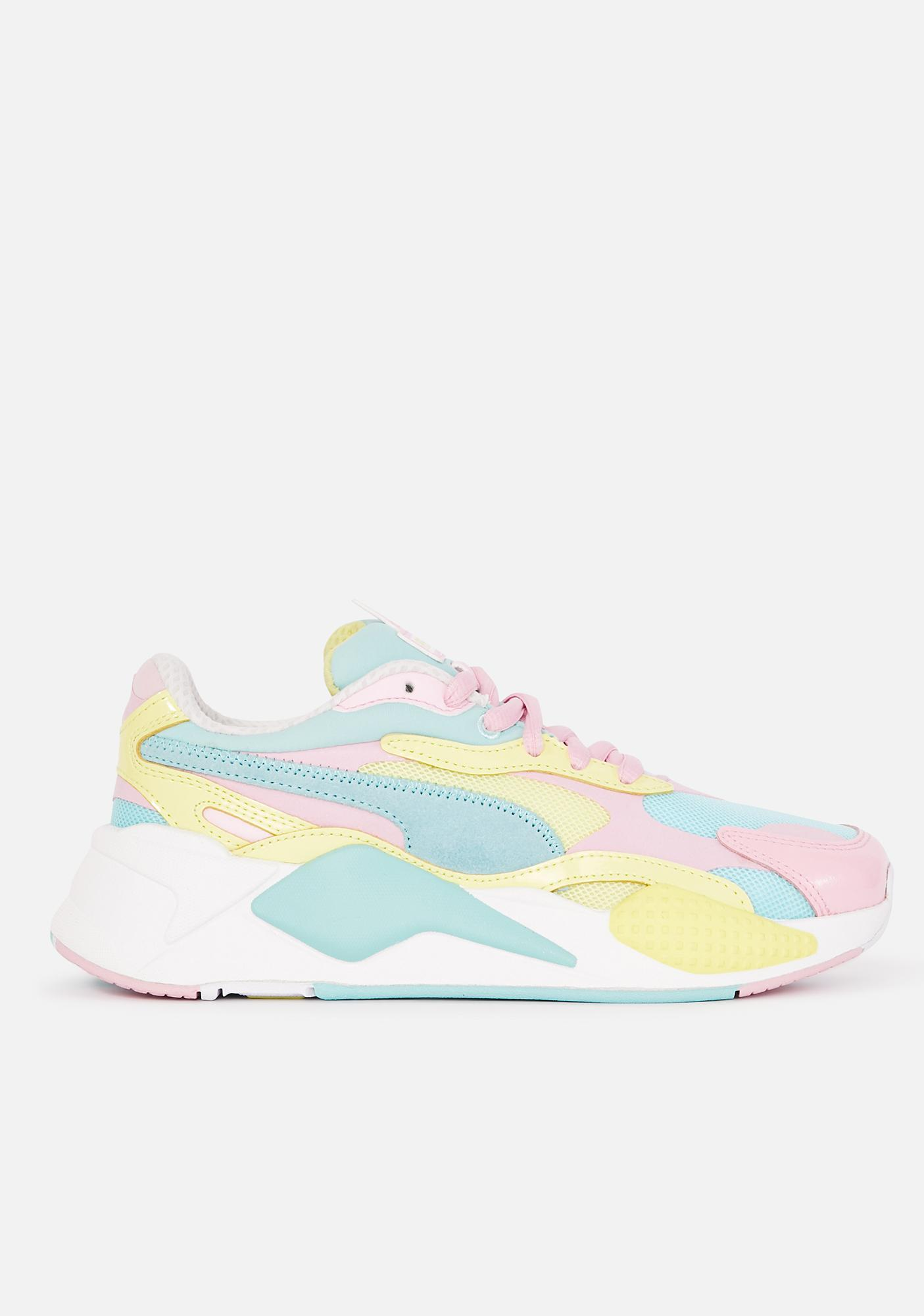 PUMA Green Plastic RS-X3 Lace Up Sneakers