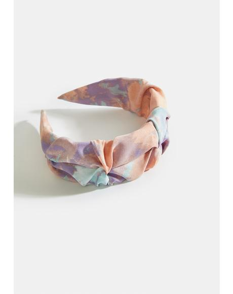 Lilac Tie Dye Hippie Moves Headband