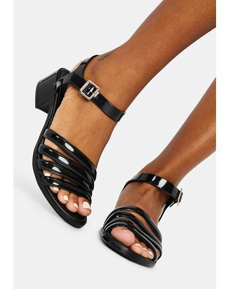 Black York Jelly Sandals