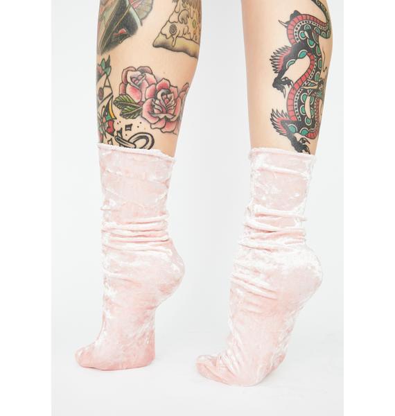Baby Dance Hall Velvet Crew Socks