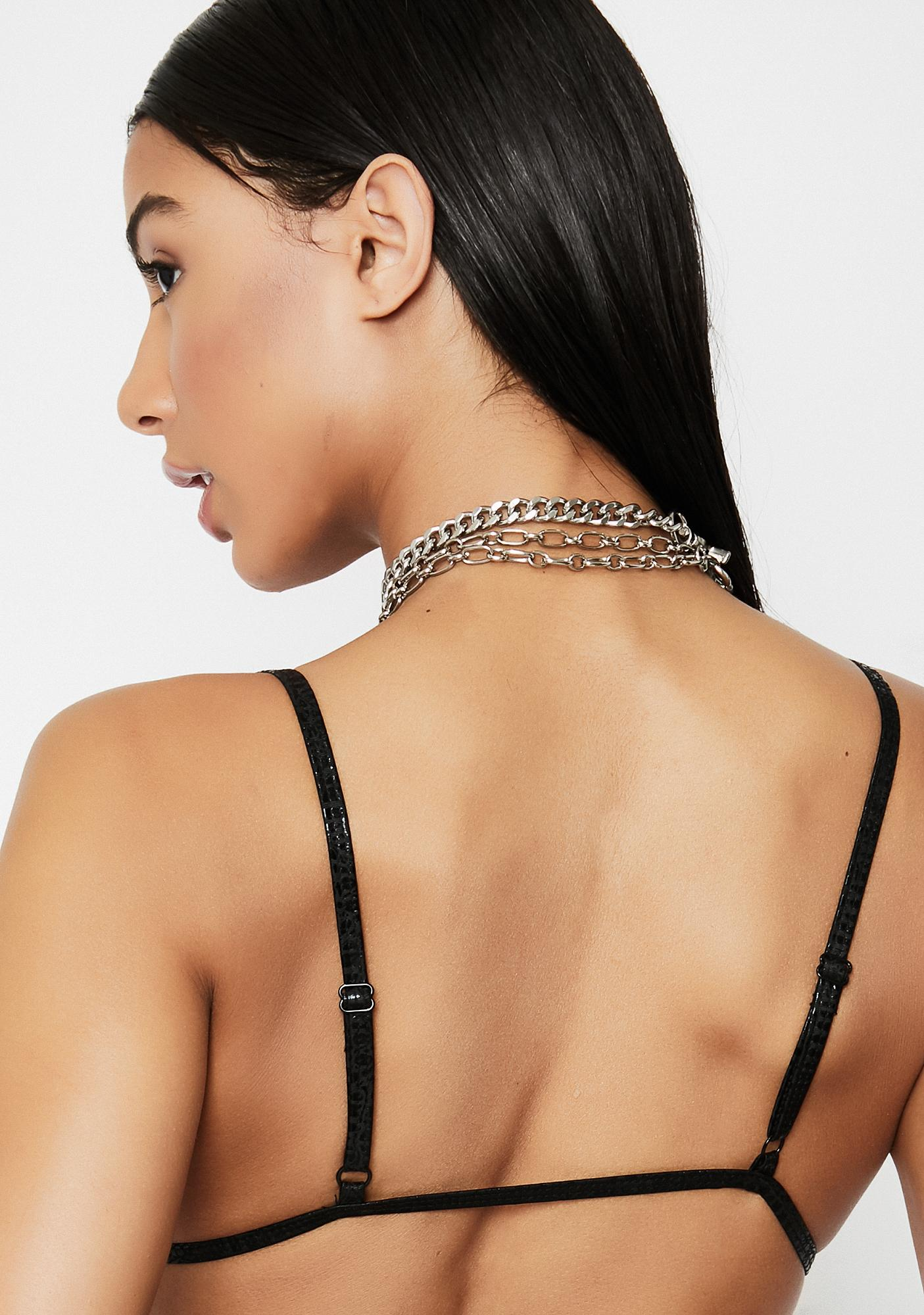 Motel Oil Snake Valter Bikini Top