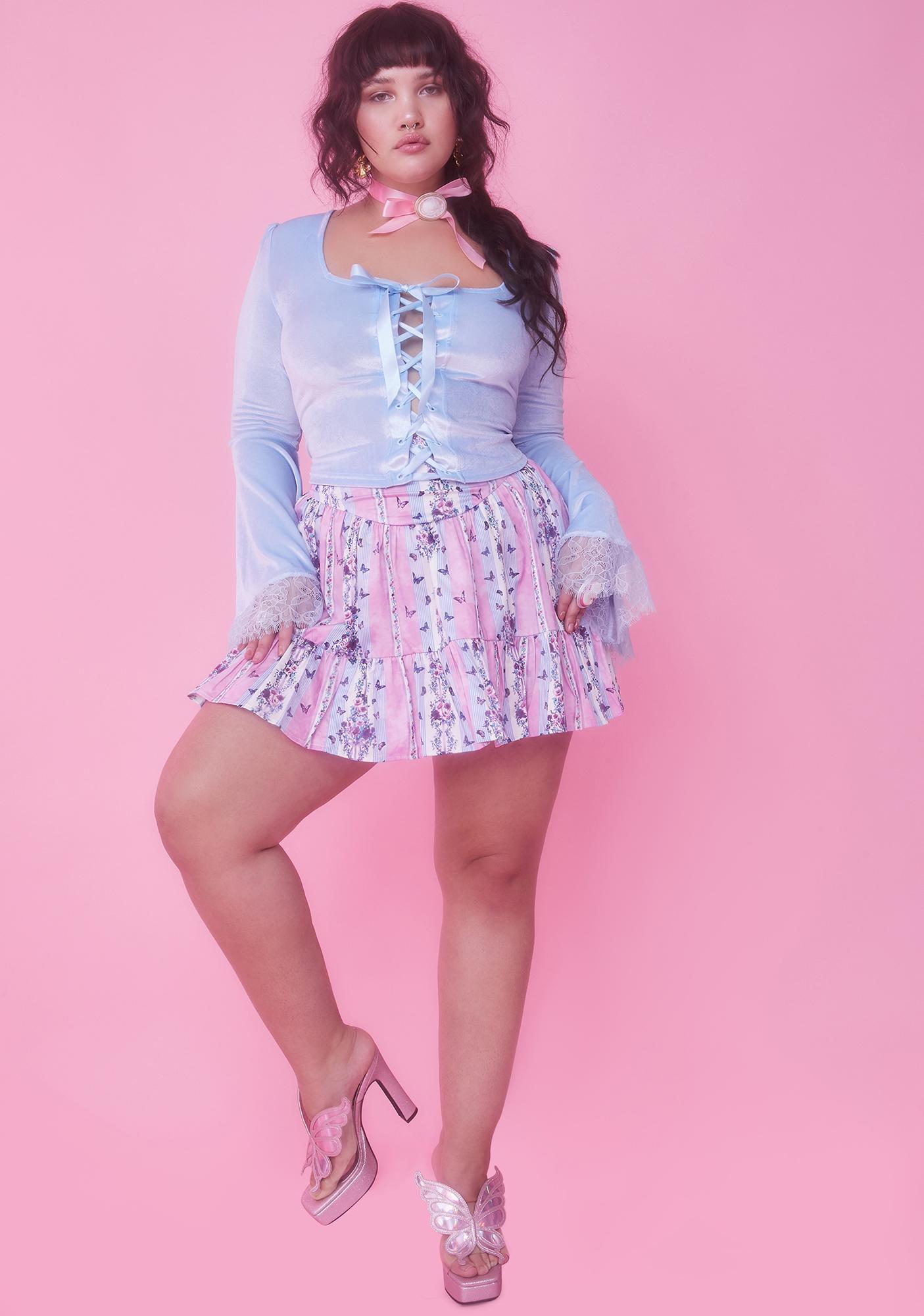 Sugar Thrillz Miss Queen Diaries Mini Skirt
