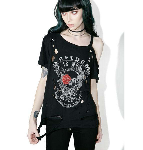 Freedom Reigns Distressed Tee