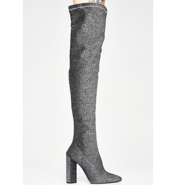 Chrome Romance Over The Knee Boots