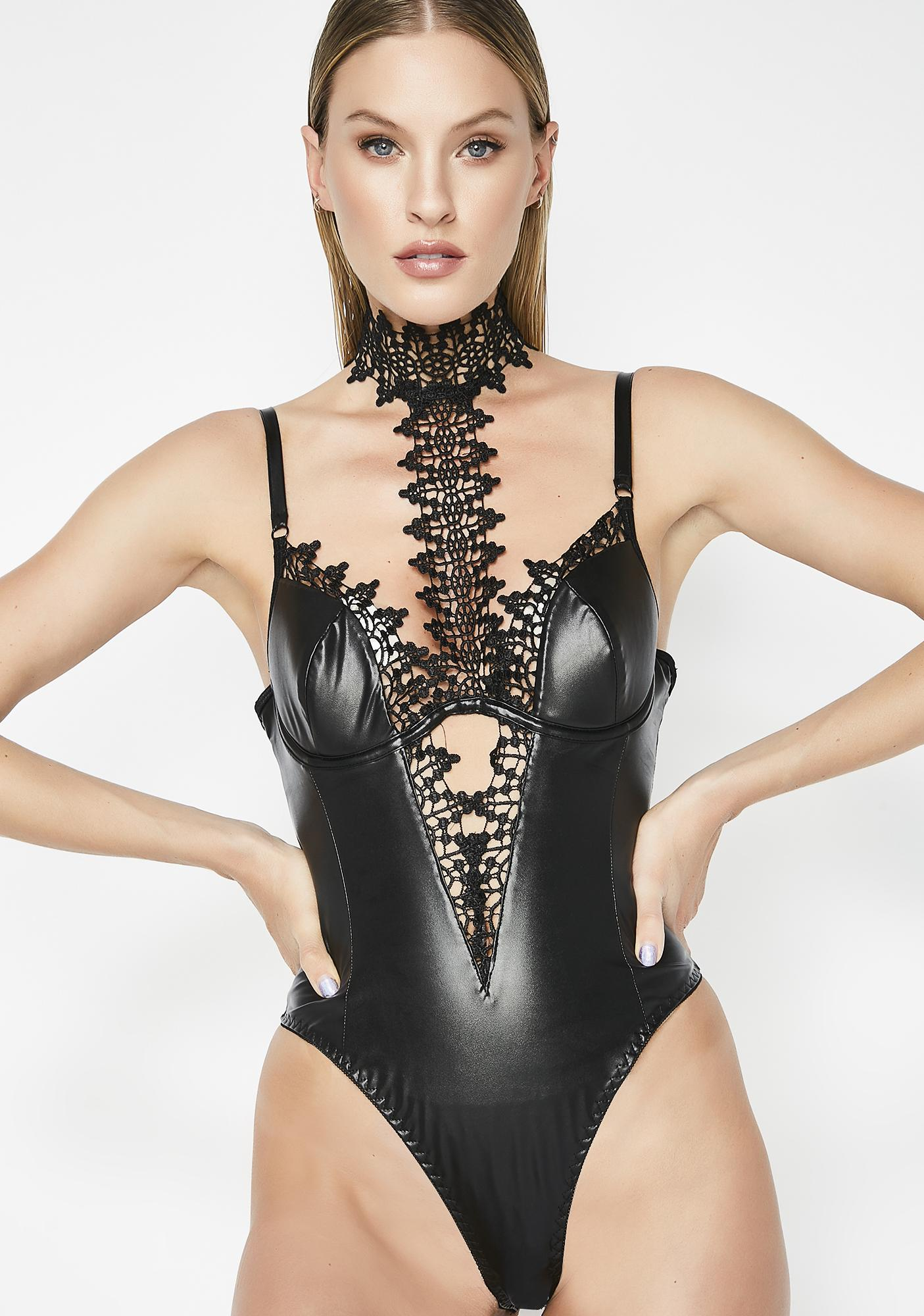 Blinded By Love Faux Leather Teddy 9f8407fb6