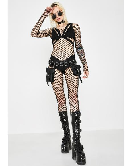 Net Force Fishnet Catsuit