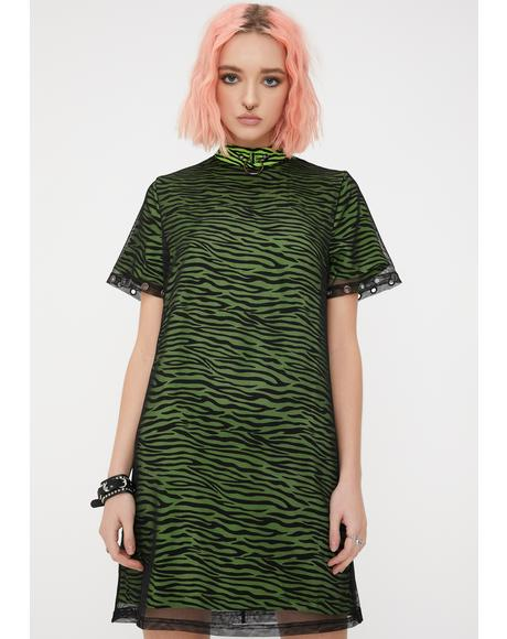 Dazed Zebra Mesh Dress