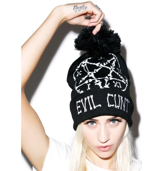 Too Fast Evil Cunt Beanie