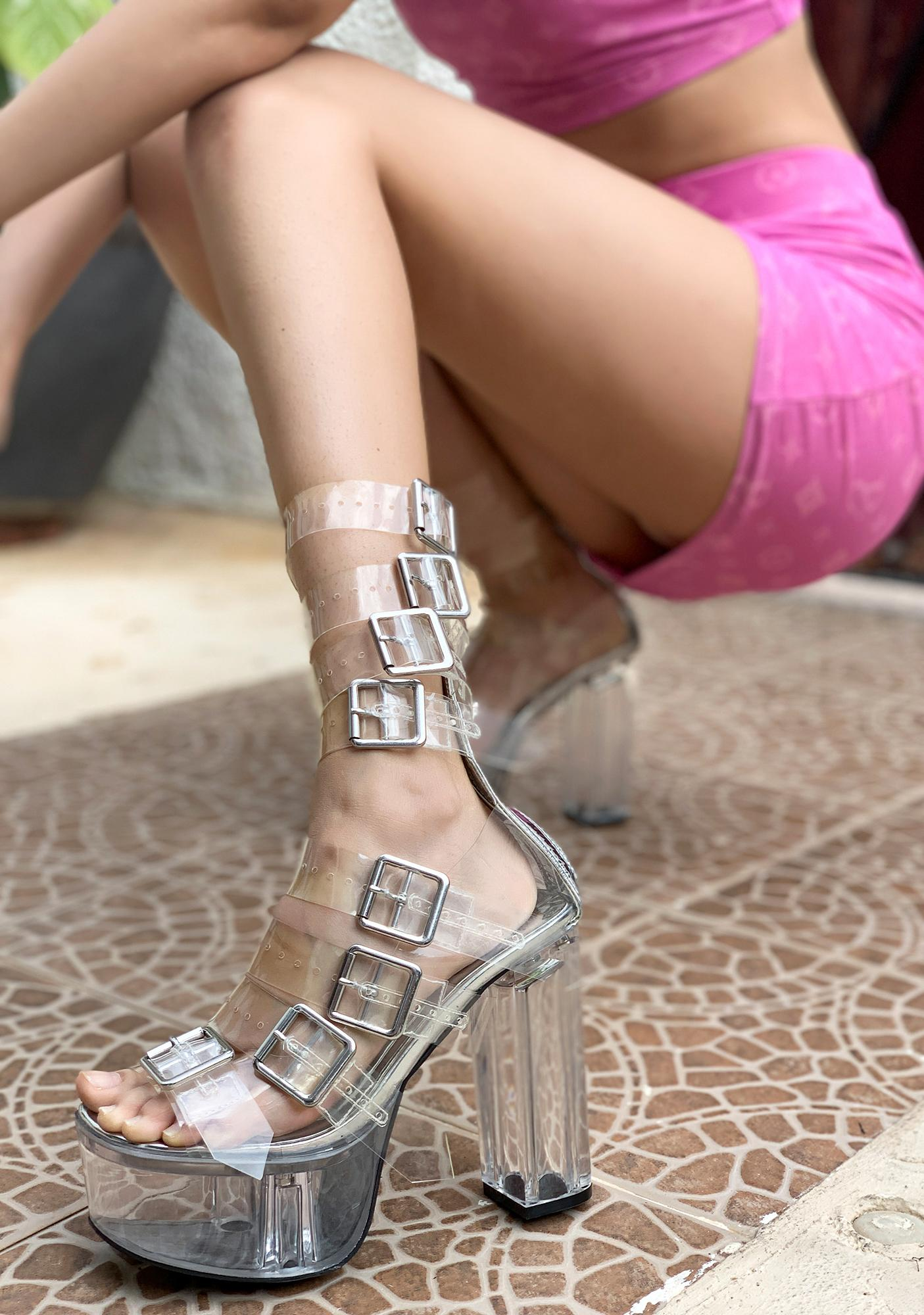 Poster Grl Level Up Platform Buckle Heels