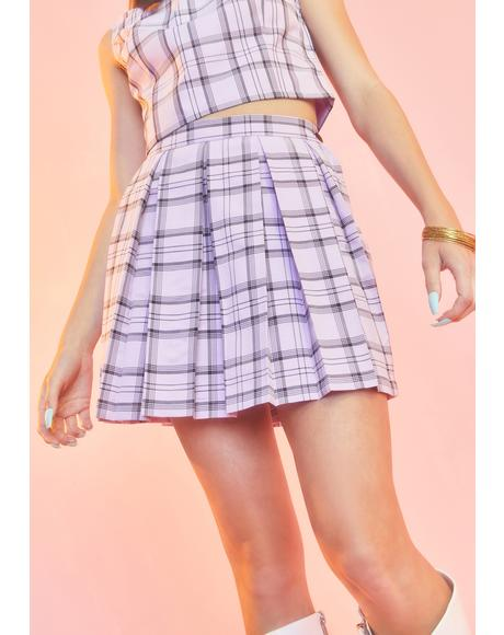 Make A Scene Plaid Skirt