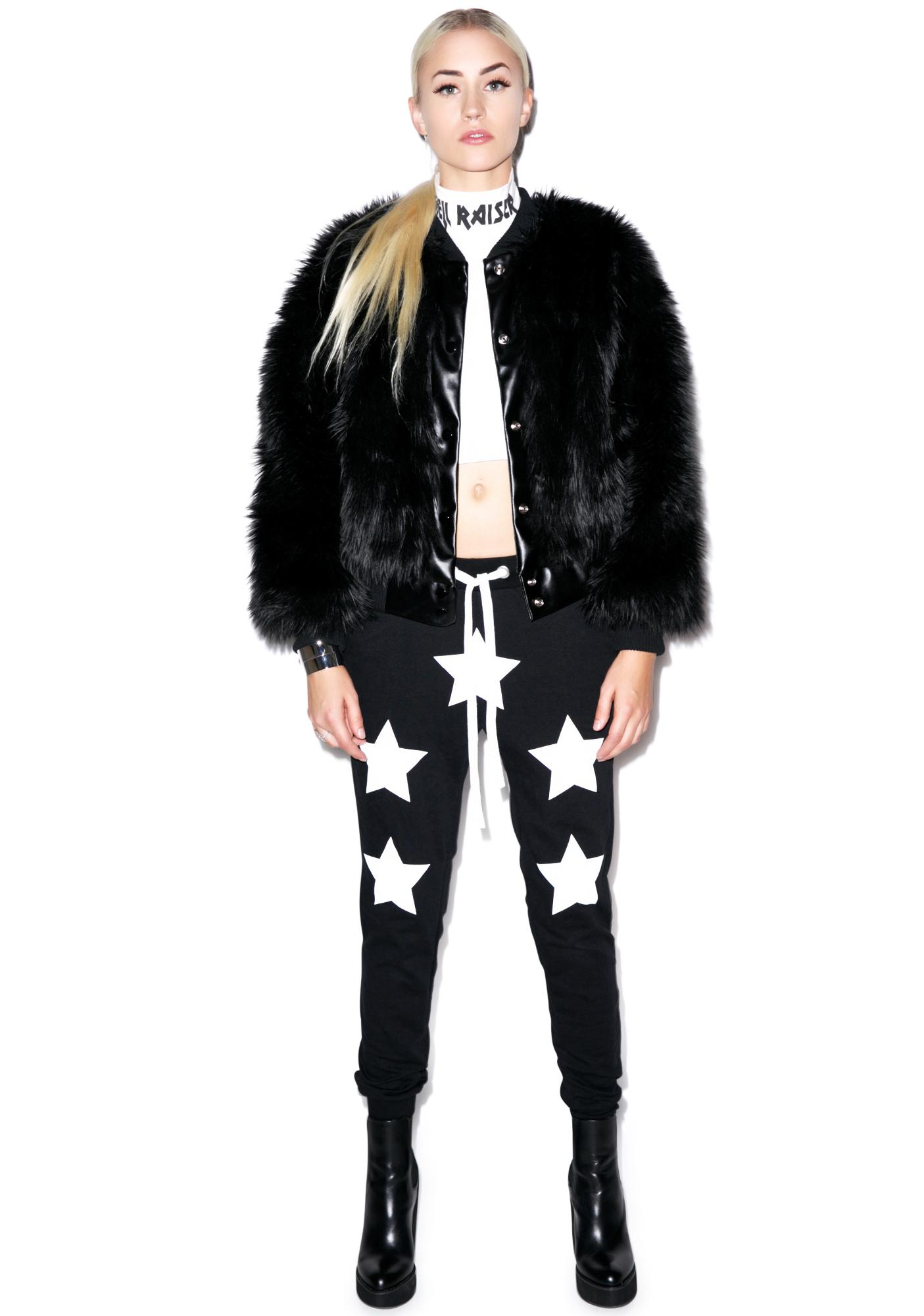 Civil Clothing Sharon Faux Fur Bomber Jacket