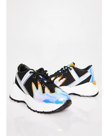 Night Blaz3 Platform Sneakers