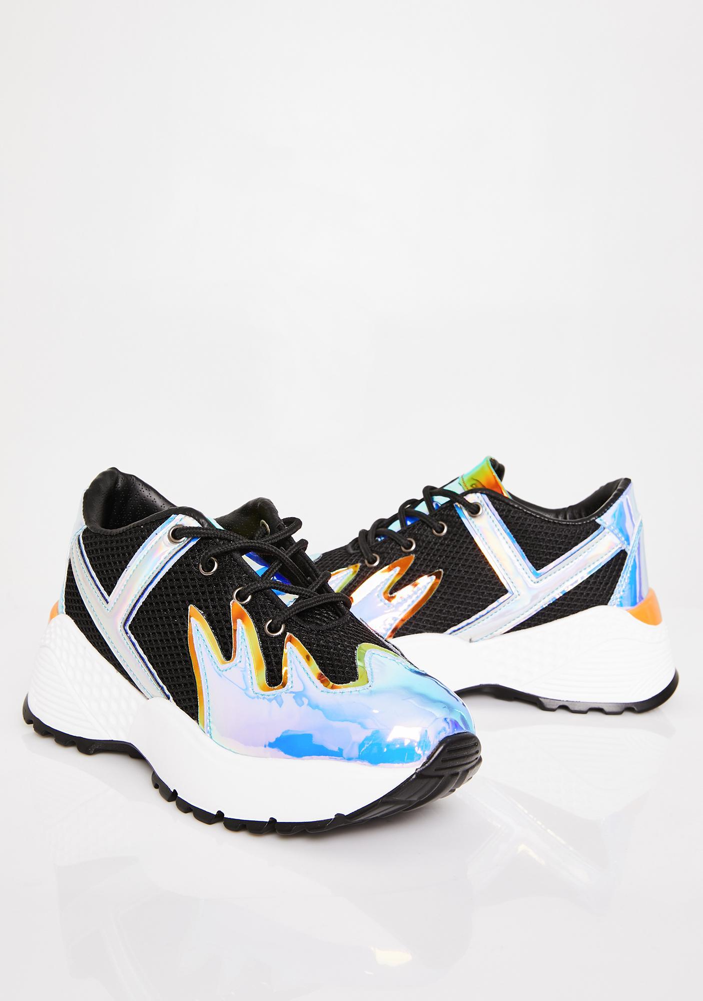 Y.R.U. Night Blaz3 Platform Sneakers