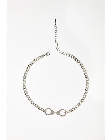 Lover Lockdown Handcuff Necklace