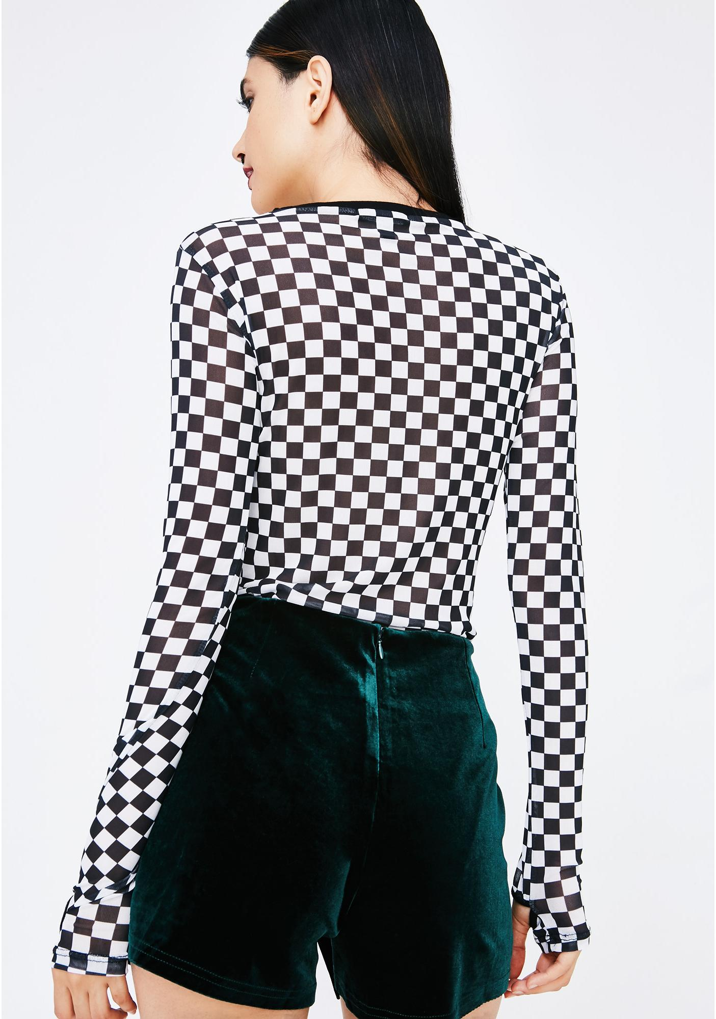 Poison Ivy Velvet Shorts