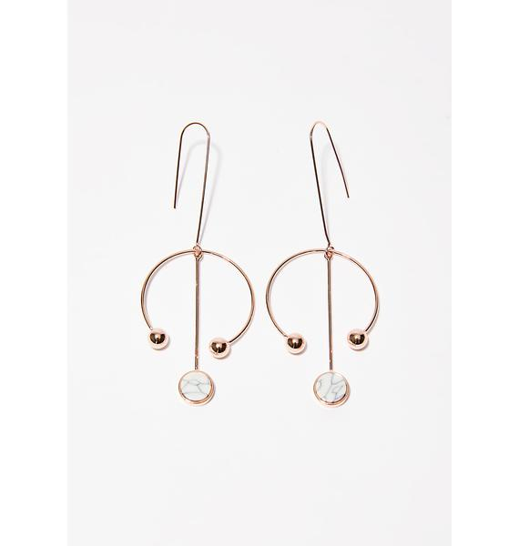 Stone Cold Barbell Babe Earrings