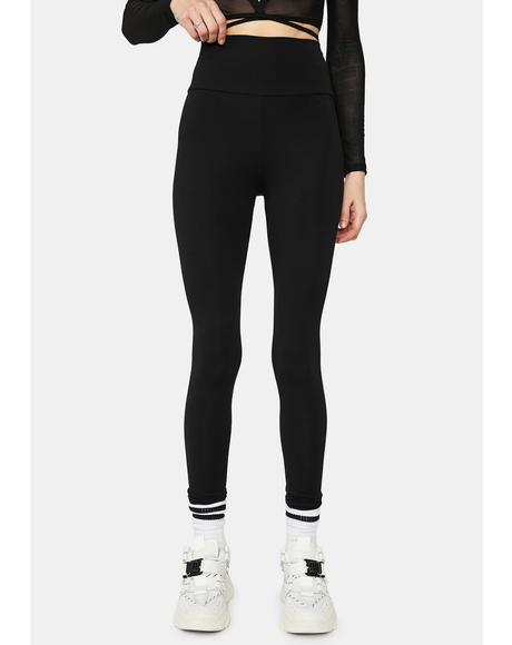 Night Not A Team Player High Waist Leggings