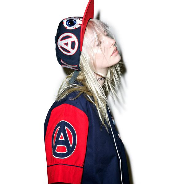 Mishka Varsity Keep Watch Baseball Jersey