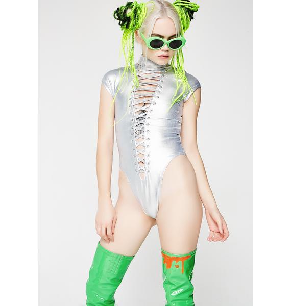 Kiki Riki New Moon Lace-Up Bodysuit