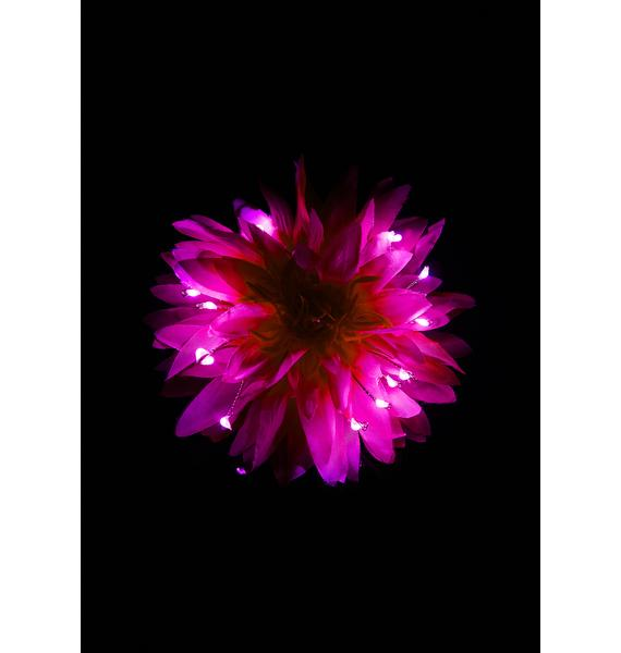 Little Light Lab Sweet Glowing Dahlia Light Up Hair Flower
