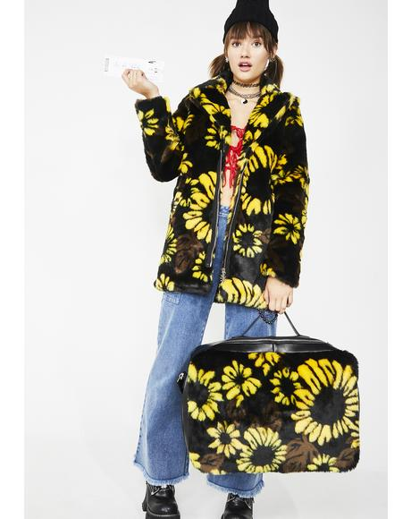 Slice Of Sunshine Sunflower Luggage