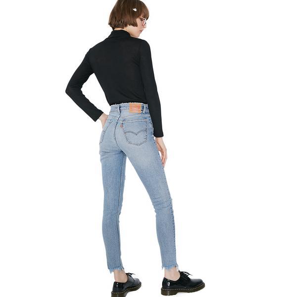 Levis 721 Vintage High Rise Skinny Jeans