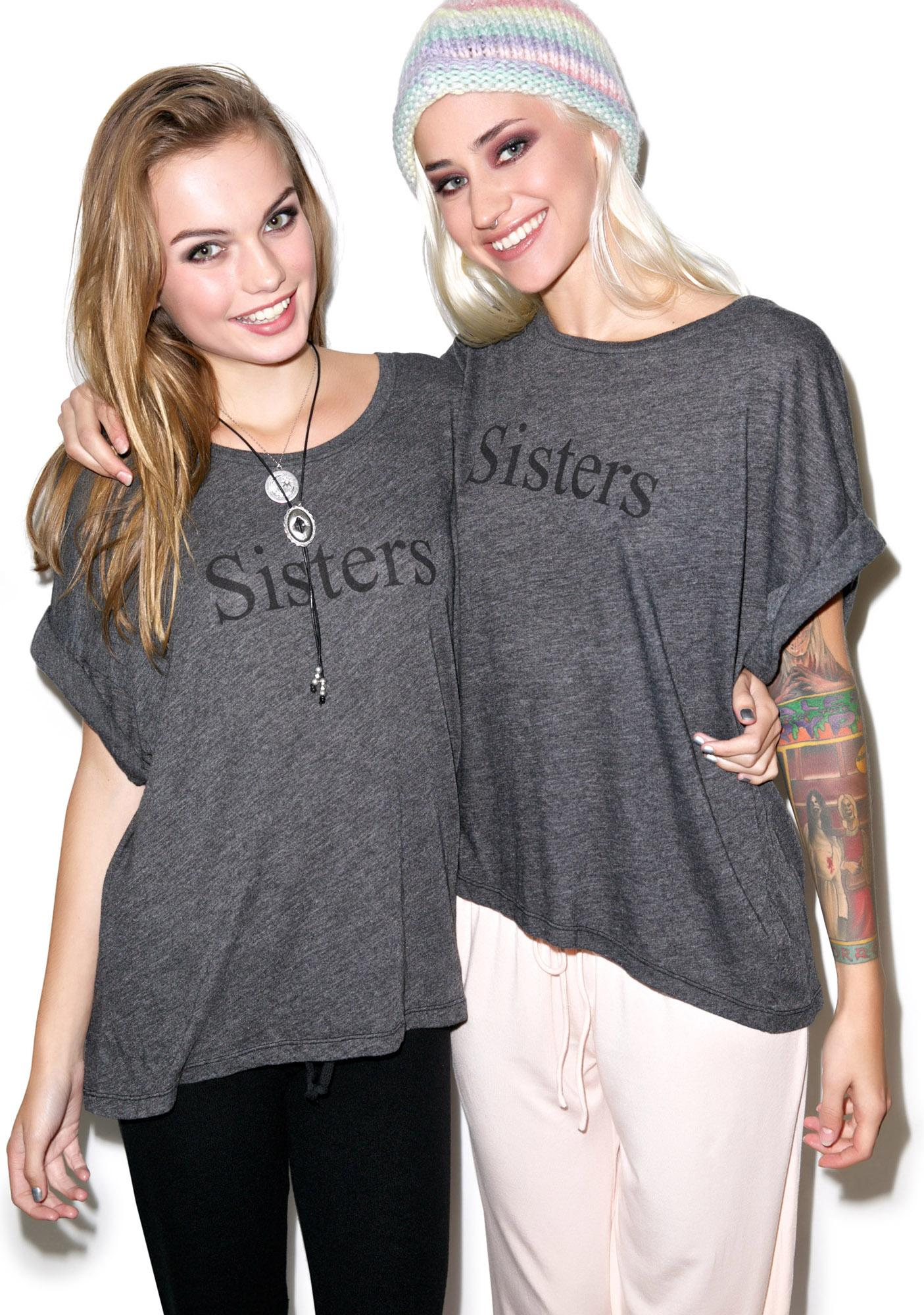 Wildfox Couture Sisters Boy Eccentricity Tee