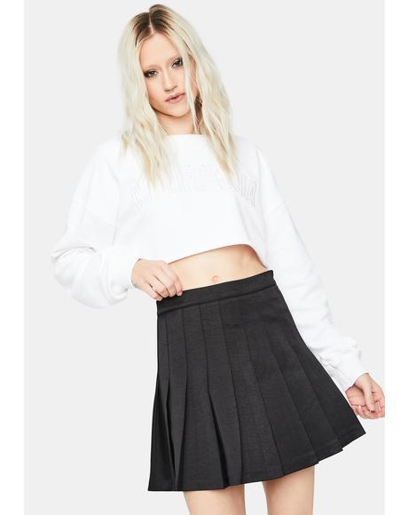 Noir Mine Is Finer Pleated Mini Skirt