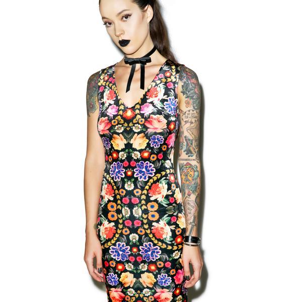 Mink Pink Garden of Earthly Delights Maxi Dress