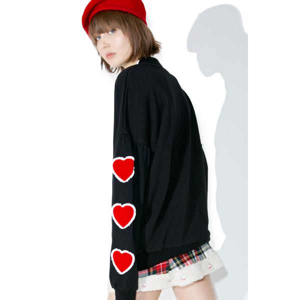 Lazy Oaf Heart Sleeve Sweater