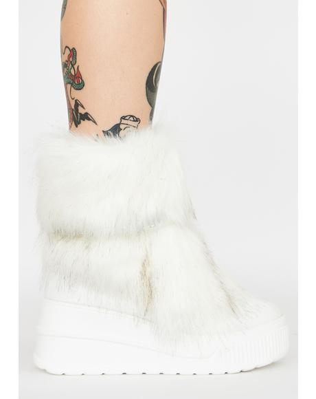 Abominable Baddie Faux Fur Boots
