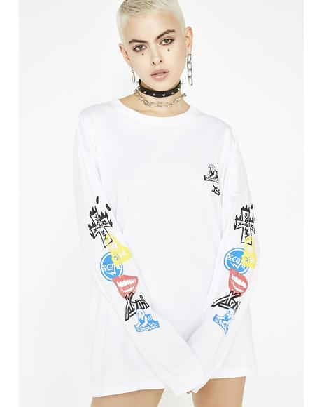 x Jungles Sticker Slap Long Sleeve Tee
