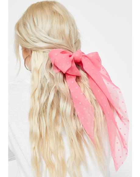 Fuchsia Popular AF Hair Scrunchie