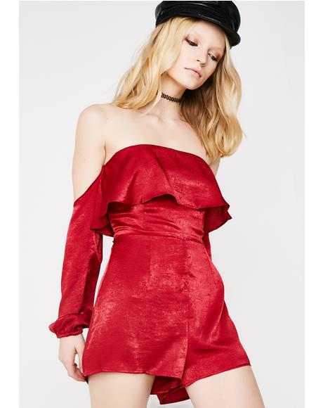 In Your Dreams Off-Shoulder Romper