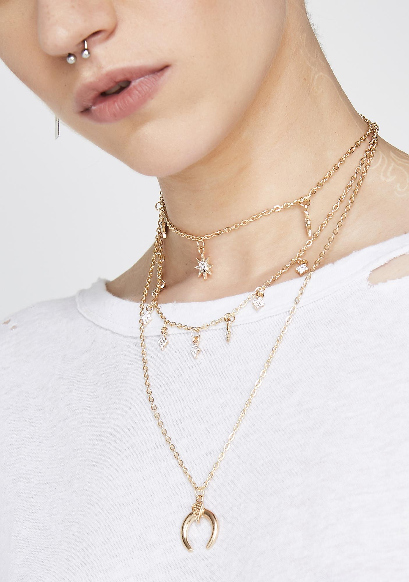 In The Stars Layered Necklace by Illuma Fashion