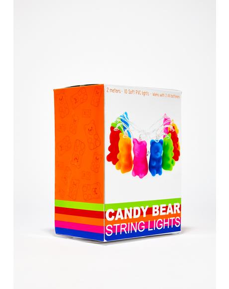 Candy Land Bear String Lights