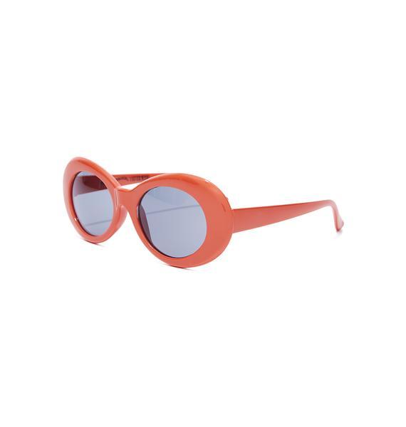 Petals and Peacocks Orange Nevermind Sunglasses
