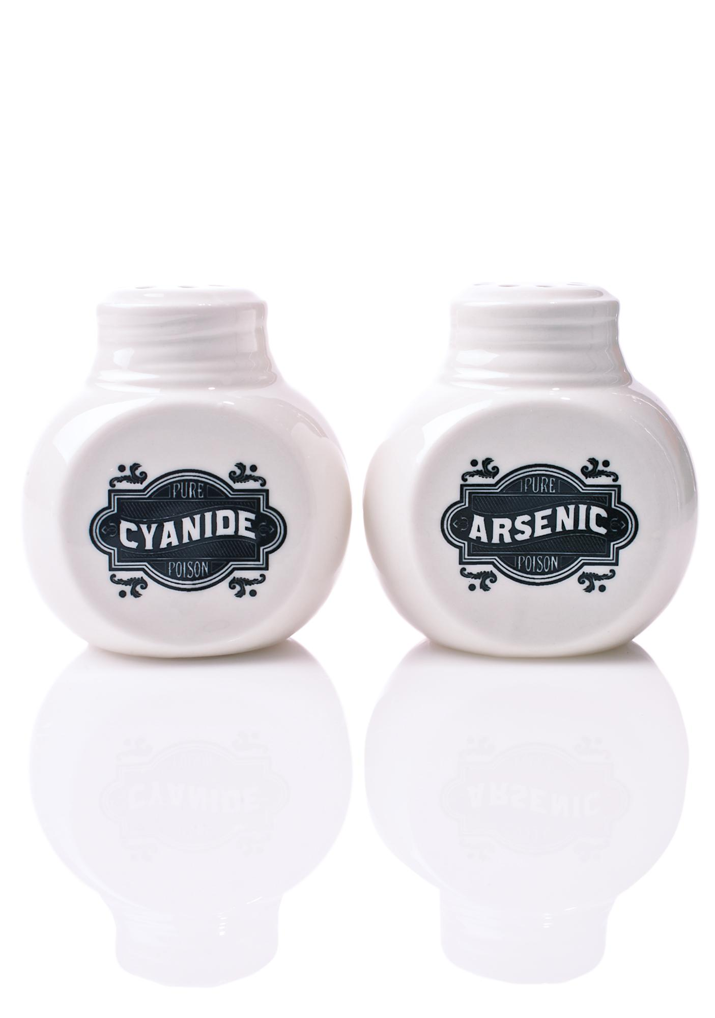 Sourpuss Clothing Cyanide & Arsenic Salt & Pepper Shakers