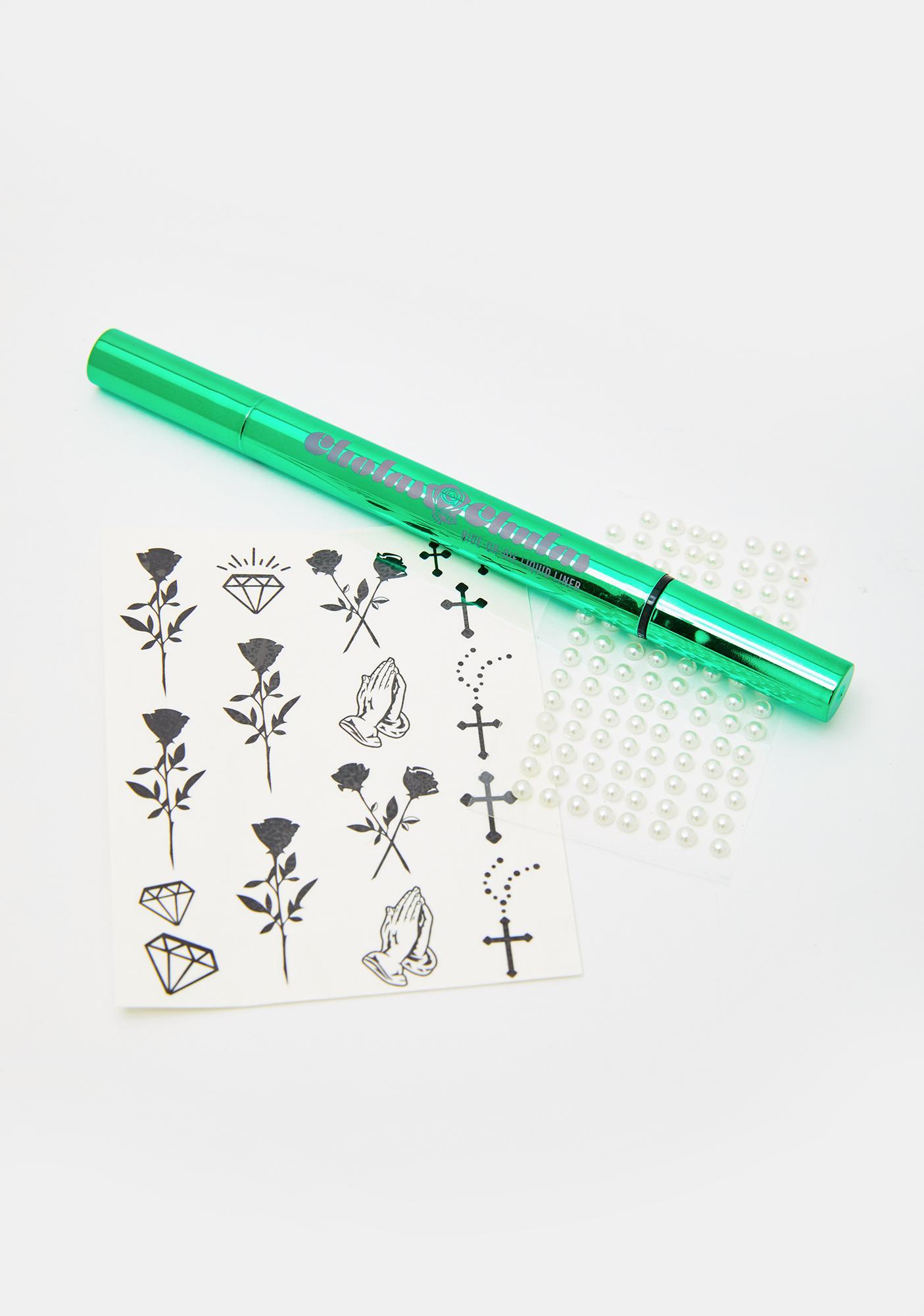 Cholas x Chulas Mi Corazon Stamp Liner N Face Sticker Set
