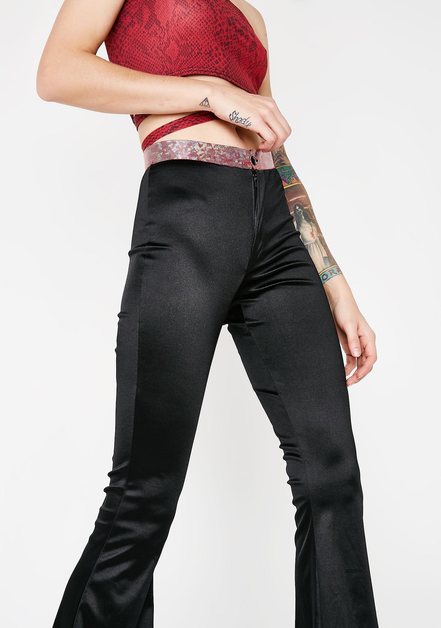 American Deadstock Hologram Waist Wide Leg Pants