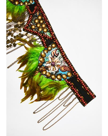 Gypsy Mystic Feather Belt