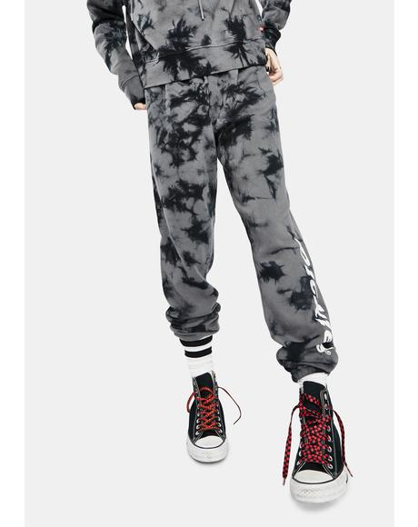 Large Logo Tie Dye Sweatpants