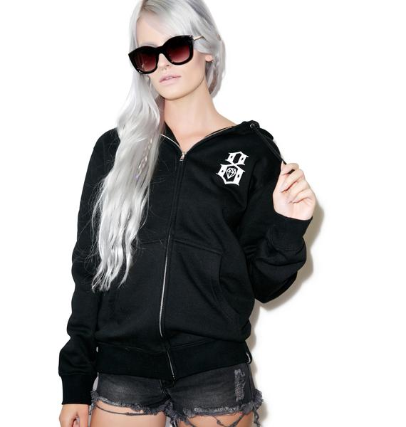 Rebel8 Standard Issue Logo Zip-Up Hoodie