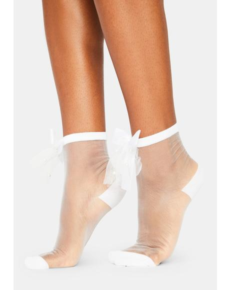 Soft Sonnet Sheer Ankle Socks
