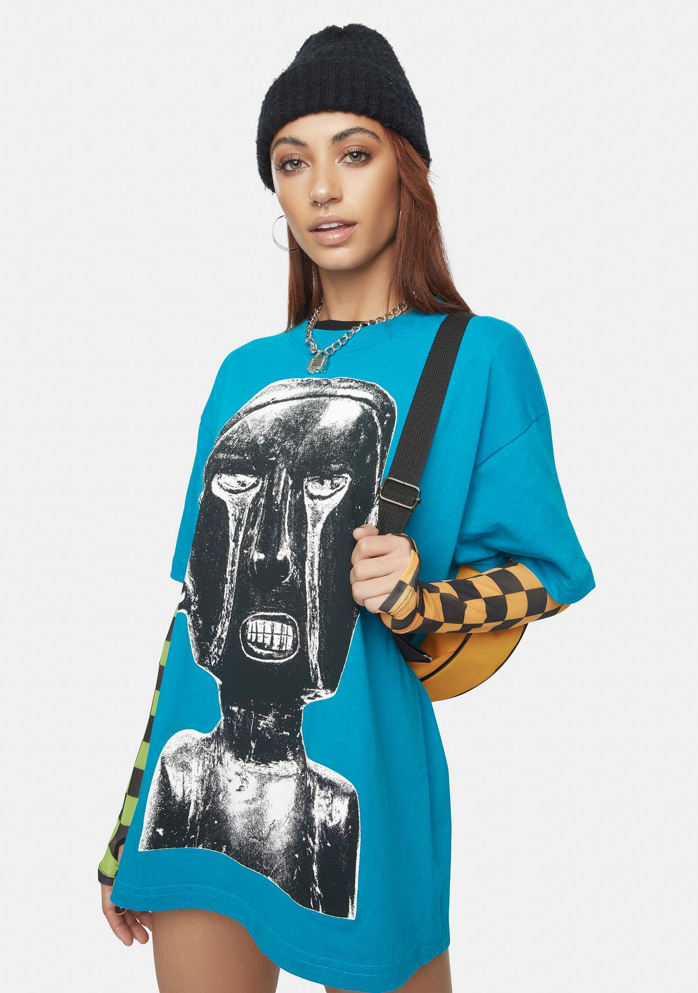 Obey Turquoise Earth Crisis Sustainable Graphic Tee