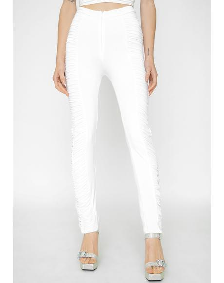 White Estella Skinny Pants