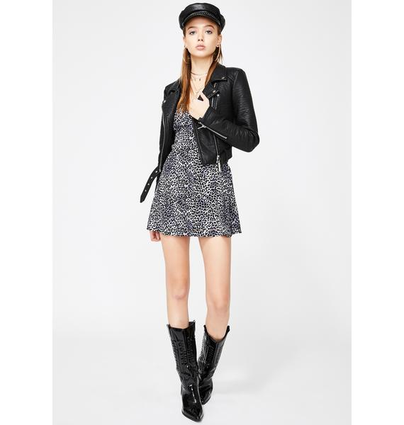 Motel Grey Leopard Elara Dress