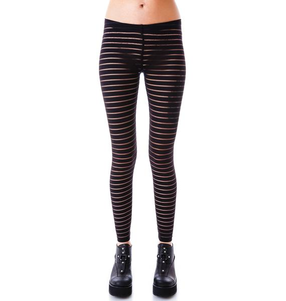 Lip Service Shadow Stripe Leggings